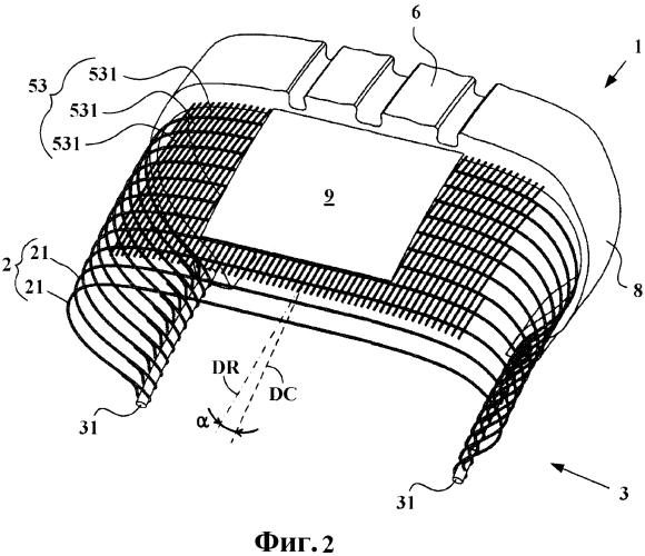 Пневматическая шина с радиальной каркасной арматурой