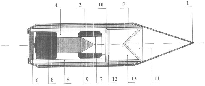 Пуля сверхмалого кумулятивного боеприпаса