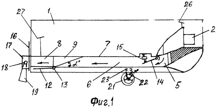 Устройство для реализации способа передвижения и управления транспортным средством на воздушной подушке