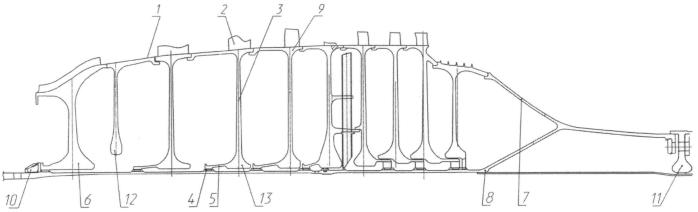 Ротор компрессора газотурбинного двигателя