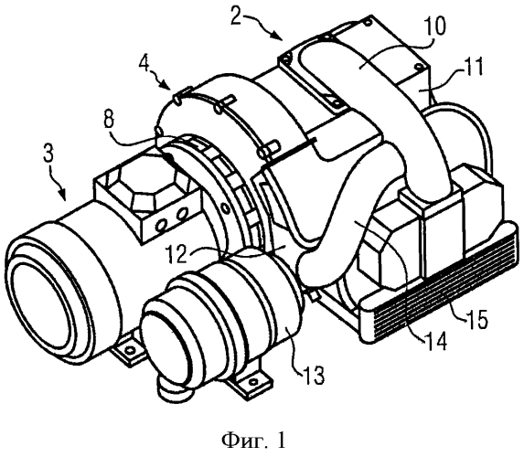 Охлаждаемый воздухом поршневой компрессор со специальным ведением охлаждающего воздуха