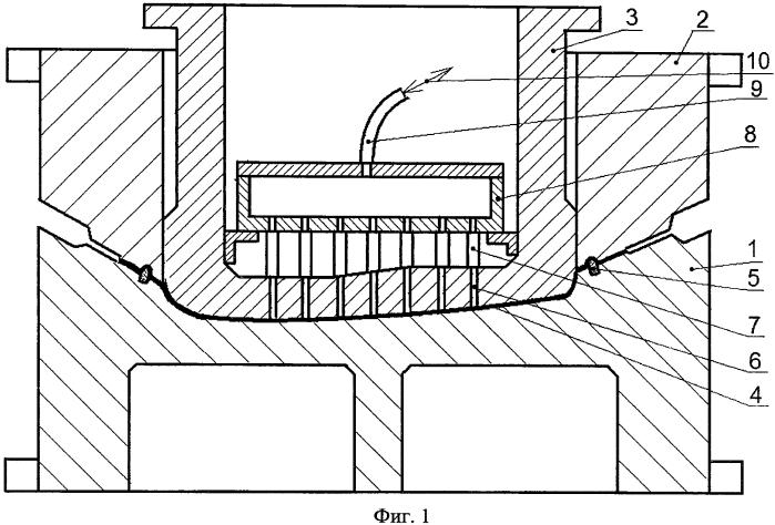 Штамп для вытяжки крупногабаритной детали сложной формы (варианты)