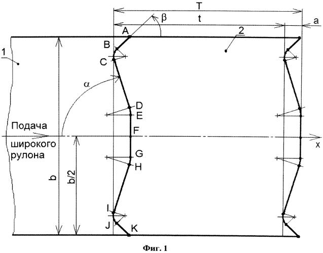 Способ отрезки заготовок для штамповки крупногабаритных панелей от рулона тонколистовой низкоуглеродистой стали (варианты)