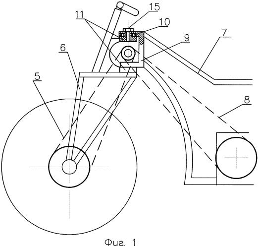Привод переднего колеса двух- трехколесного транспортного средства