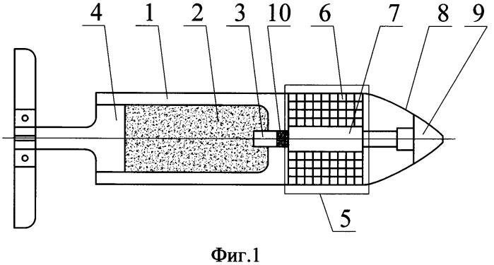 Осколочный блок осколочно-пучкового снаряда