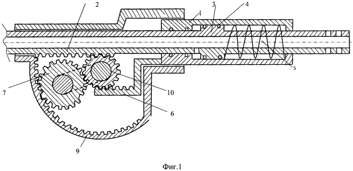 Устройство для уменьшения отдачи ручной пушки с предварительным выкатом ствола и инертного груза