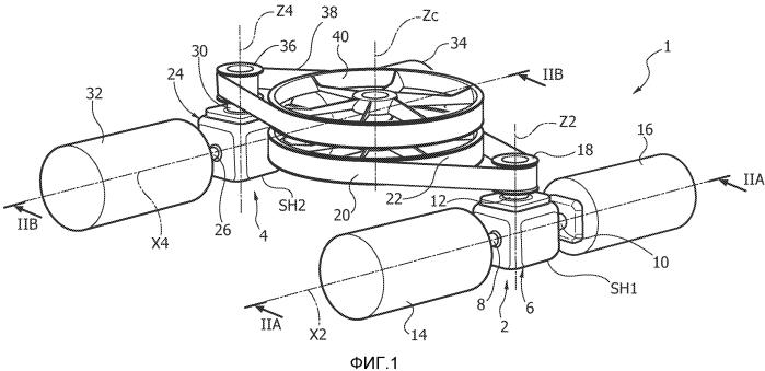 Двигательная и передающая движение сборка, в частности, для винтокрылых летательных аппаратов