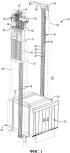 Подъемная система с конфигурацией размещения канатов или ремней по типу 4:1
