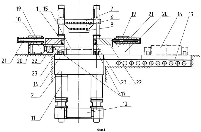 Ковочно-раскатный агрегат для изготовления колец большого диаметра