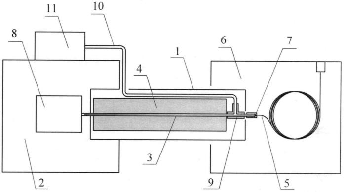 Интерфейс газового хроматографа и масс-спектрометрического детектора