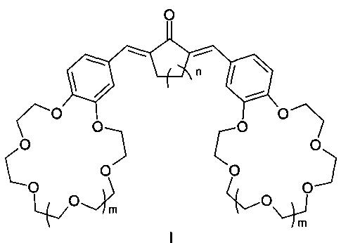 Симметричные краунсодержащие диеноны в качестве оптических молекулярных сенсоров для определения катионов щелочных, щелочноземельных металлов, аммония и способ их получения
