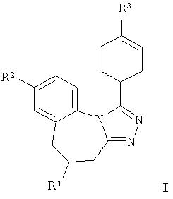 Арил- /гетероарил - циклогексенил - тетраазабензо[е]азулены в качестве антагонистов вазопрессина