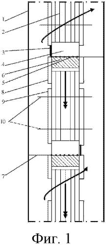 Контактное устройство для проведения тепломассообмена и раздела фаз в секционированных перекрестноточных насадочных колоннах в системах газ-жидкость и жидкость-жидкость