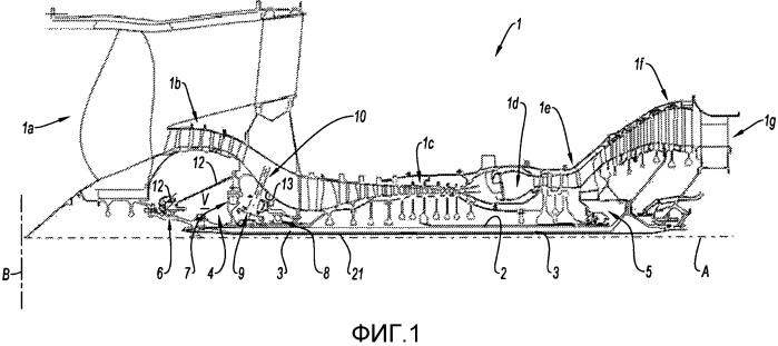 Герметизирующее устройство для масляной камеры турбореактивного двигателя