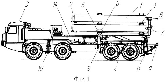 Мобильная пусковая система для транспортировки и пуска ракет из транспортно-пусковых контейнеров при помощи пороховых аккумуляторов давления или парогазогенераторв
