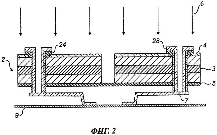 Фокальный матричный приемник и способ его изготовления