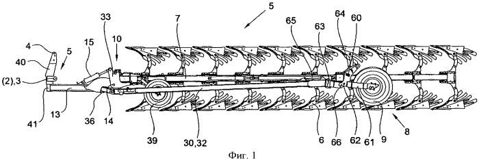 Полунавесной поворотный плуг (варианты)