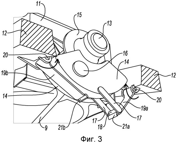 Устройство перехода винта в реверс, содержащее приводной механизм, действующий на кривошип