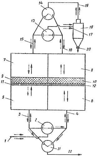 Способ фильтрации аэрозолей в зернистом фильтре