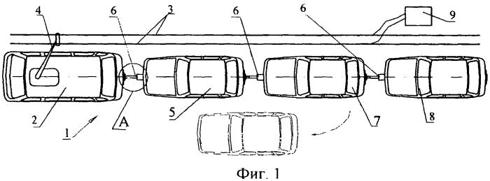 Способ формирования и снабжения электроэнергией поездов из наземных транспортных средств с электроприводом и устройство для его осуществления