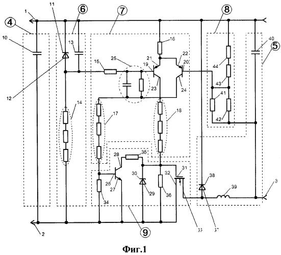 Модуль ограничения напряжения электродвигателя отопителя городского электротранспорта