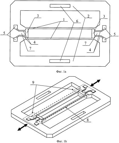 Камертонный измерительный преобразователь механических напряжений и деформаций