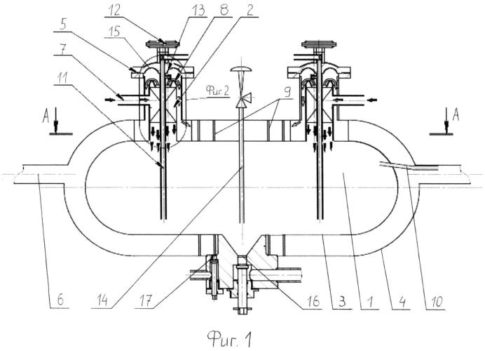 Скважинный приустьевой отбойник и способ отделения примесей от газожидкостного потока