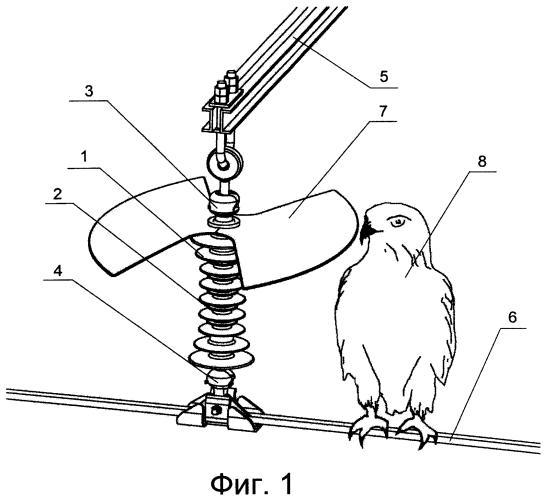 Секторное птицезащитное устройство для подвесного изолятора и изолятор, снабженный таким устройством