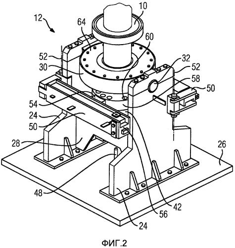 Устройство для поворота ротора турбомашины из первого положения во второе положение