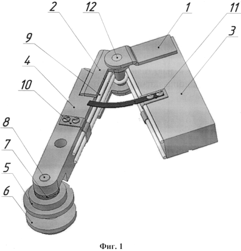 Инструментальная державка для электромеханического упрочнения шпоночного паза