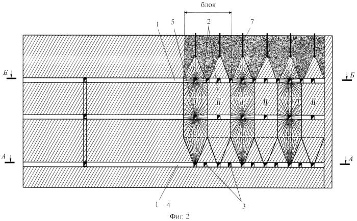 Способ разработки мощных месторождений этажно-камерной системой с закладкой выработанного пространства