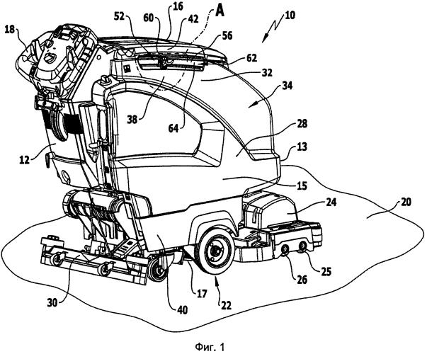 Передвижная полоуборочная машина с держателем инвентаря