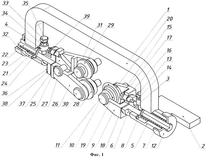 Державка для электромеханической обработки цилиндрических деталей с резьбой