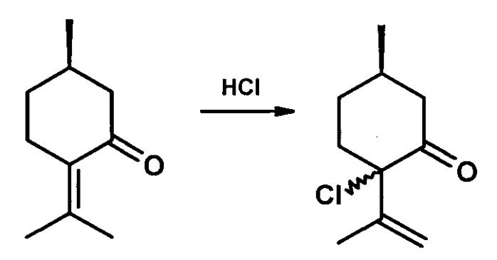 Способ получения терпеновых α-хлоркетонов или хлоргидроксикетонов
