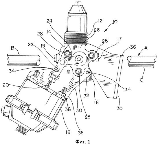 Переходная пластина вентильного привода