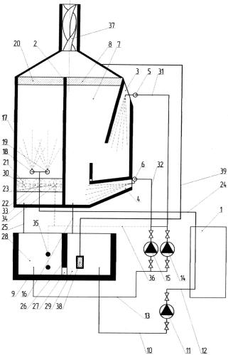Эжекционное устройство для охлаждения оборотной воды