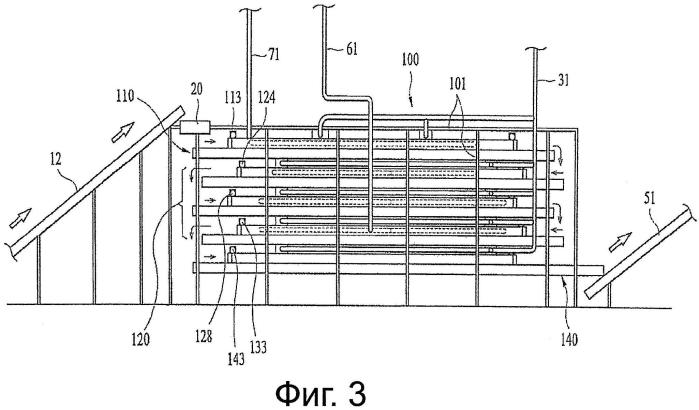 Система для высушивания угля, использующая перегретый пар