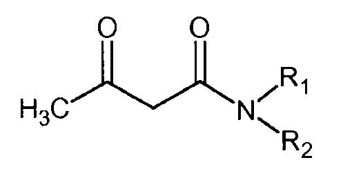 Мат из полимерных волокон, содержащих ацетоацетамид, и его применение