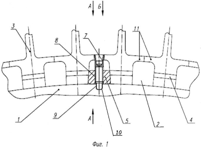 Рабочее колесо ротора газотурбинного двигателя с демпфированием вибрационных колебаний