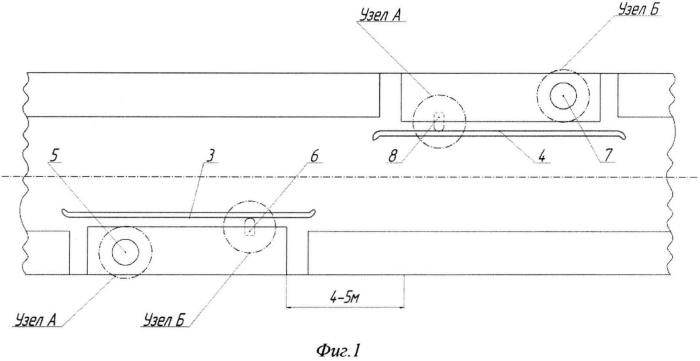 Стационарное устройство для измерения геометрических размеров бандажей локомотивных колесных пар