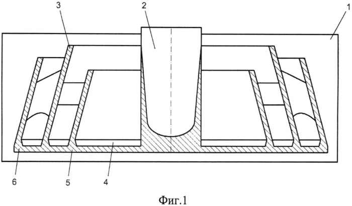 Литниковая система для центробежного фасонного литья с вертикальной осью вращения