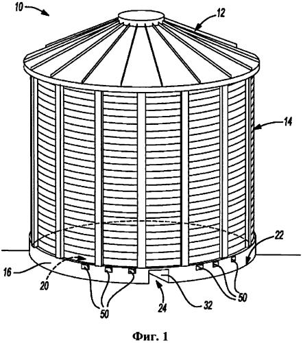 Система разгрузки цилиндрического бункера