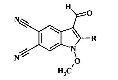 Способ получения замещенных 3-формилиндол-5,6-дикарбонитрилов