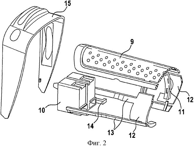 Ручная машина с эластомерными элементами для установки находящихся в корпусе компонентов