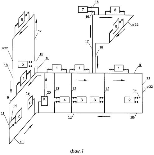 Энергонезависимая система отопления на три этажа с использованием многослойных потоков воды для осуществления циркуляции