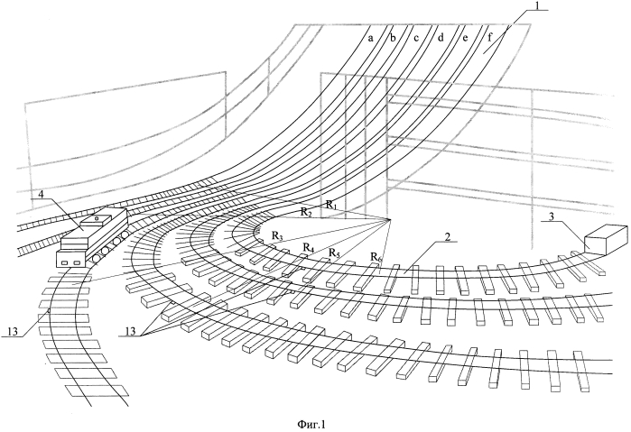 Способ макетного моделирования движения подвижного состава по рельсовому пути и конструкция для его осуществления