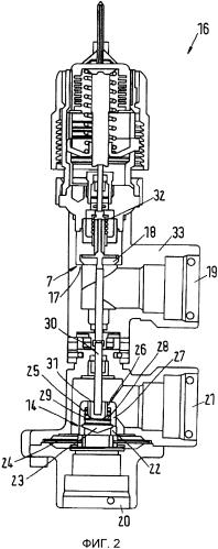 Клапанное устройство теплообменника