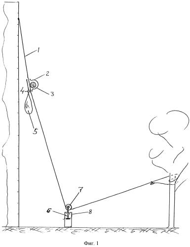 Устройство для гравитационного спуска вдоль троса