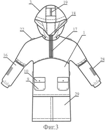 Трансформируемый защитный предмет одежды