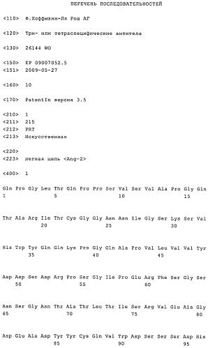 Три- или тетраспецифические антитела